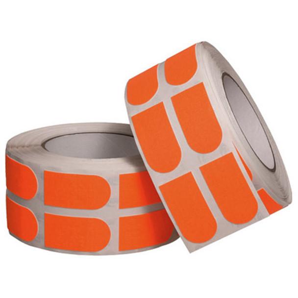 "Turbo Neon Orange Textured Grip Strips 1"" Bowling Tape - 500 Roll"