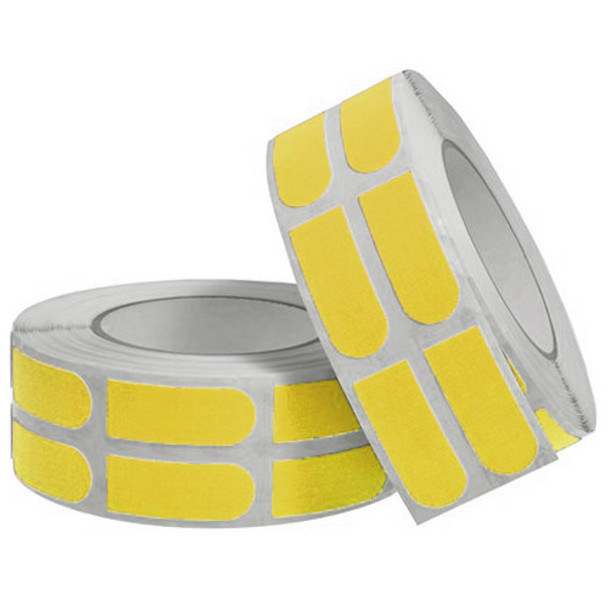 """Turbo Neon Yellow Textured Grip Strips 3/4"""" Bowling Tape - 500 Roll"""