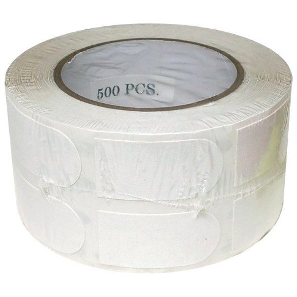 """Turbo White Textured 1"""" Bowling Tape - 500 Roll"""
