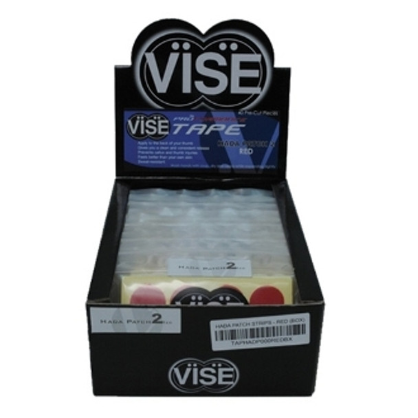 Vise #2 Pre-Cut Hada Patch Tape Red Number 2 is Red (Medium release) 12 INDIVIDUAL PACKETS EACH CONTAINING 40 PIECES