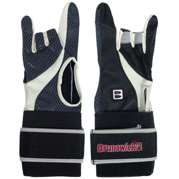 Brunswick Power XXX Bowling Glove - Black/Charcoal