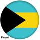 OTBB Bahamas Flag Bowling Ball front