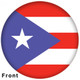 OTBB Puerto Rican Flag Bowling Ball front