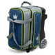 Brunswick Crown Deluxe Double Roller Bowling Bag - Navy/Lime