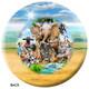OTBB African Animals Selfie Bowling Ball Back