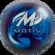 Motiv Thrill Blue/Purple Pearl Bowling Ball - Motiv Logo