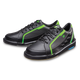 Brunswick Punisher Mens Bowling Shoes Black/Neon Green left
