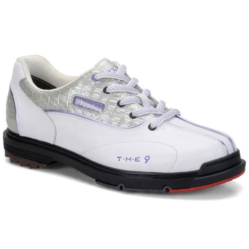 f15e2acd4ea4bb Dexter THE 9 Womens Bowling Shoes White Silver Lilac FREE SHIPPING ...