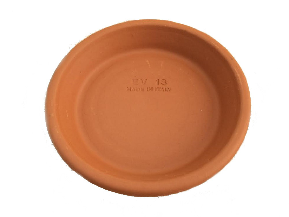 "5 -  5""/ 4"" Clay Saucers - Water Resistant - For Plants, Crafts, Fairy Gardens"