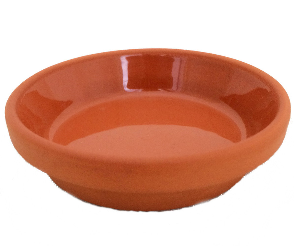 """5 -  3.5"""" / 2.75"""" Clay Saucers - Water Resistant-For Plants, Crafts, Fairy Gardens"""