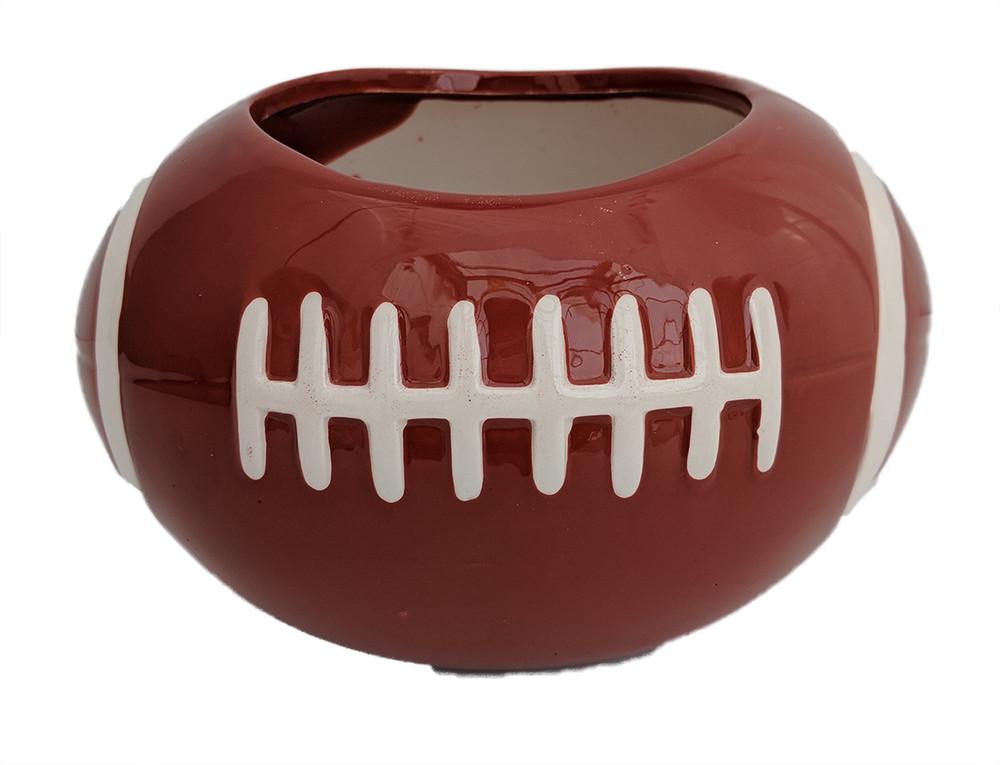 "Football Ceramic Sports Planter  - Opening - 3.5""  - Height 4"""