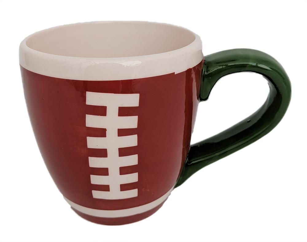 """Football Ceramic Sports Mug Planter - 13 Ounce - 4"""" x 3.5"""""""
