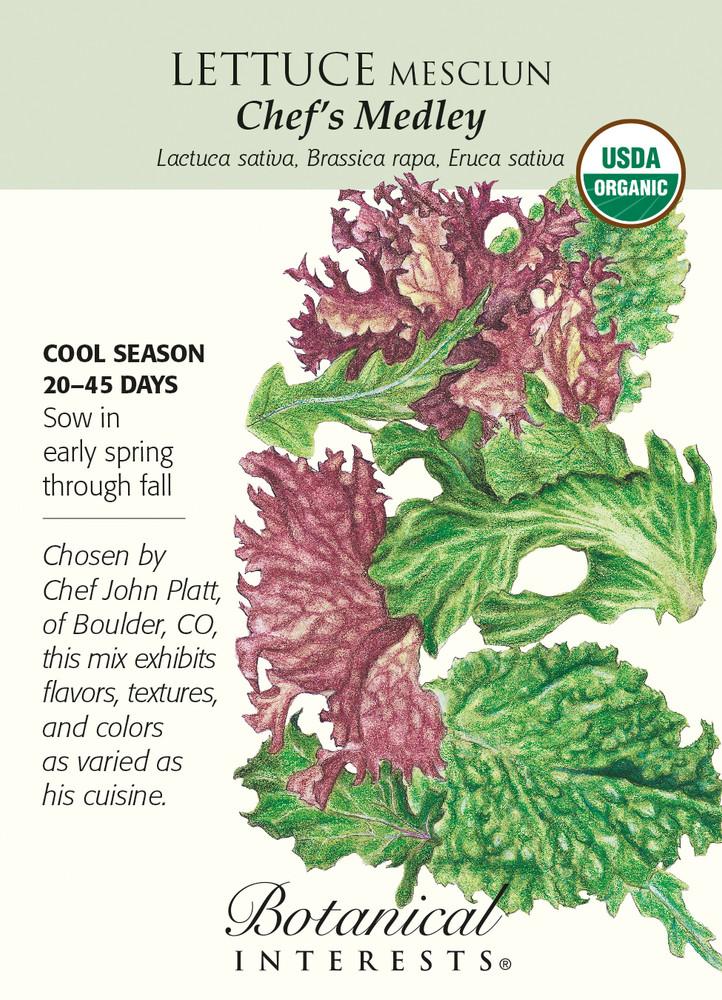 Chef's Medley Mesclun Lettuce Seeds - 1.5 gram