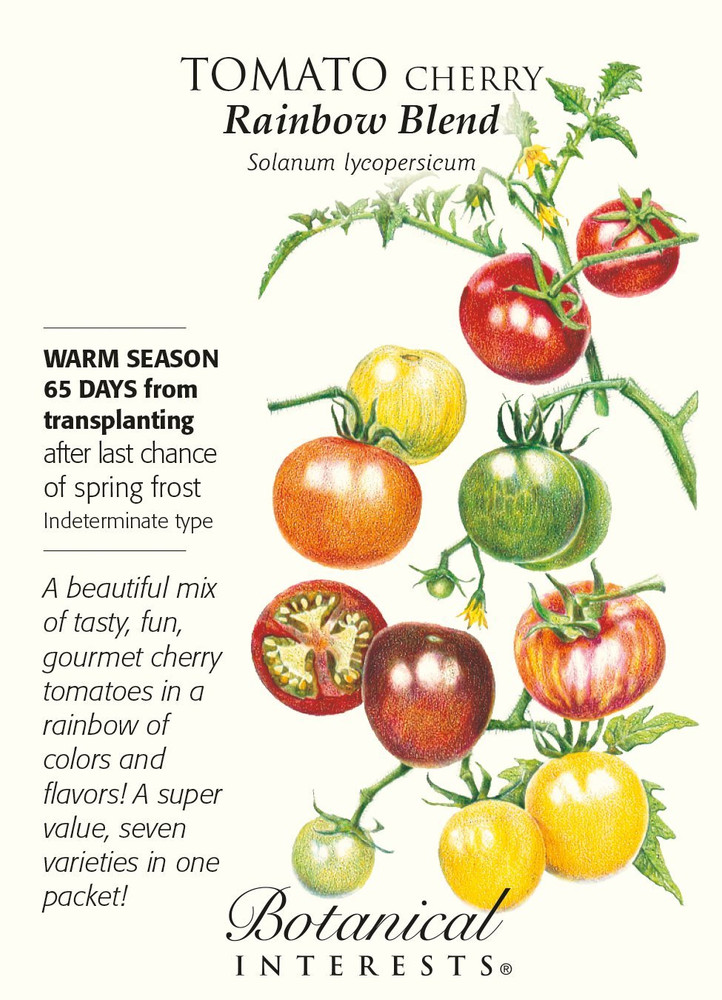 Rainbow Blend Cherry Tomato Seeds - 250 mg