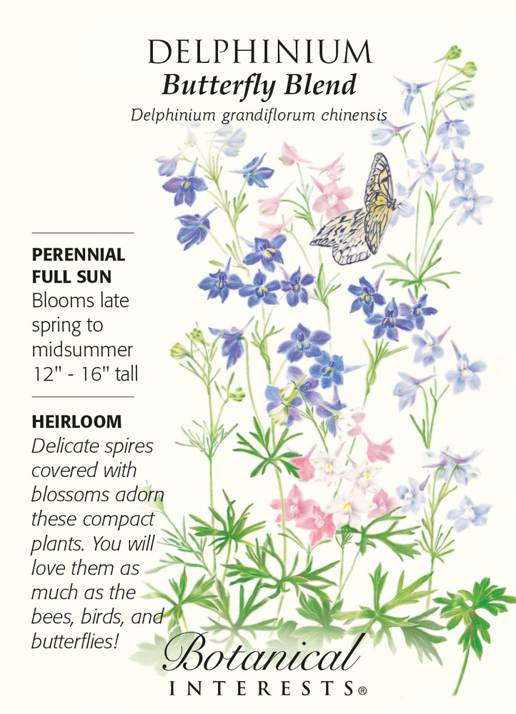 Butterfly Blend Delphinium Seeds - 200 mg