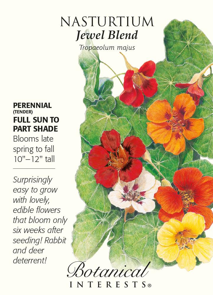 Jewel Blend Nasturtium Seeds - 3 g - Tropaeolum