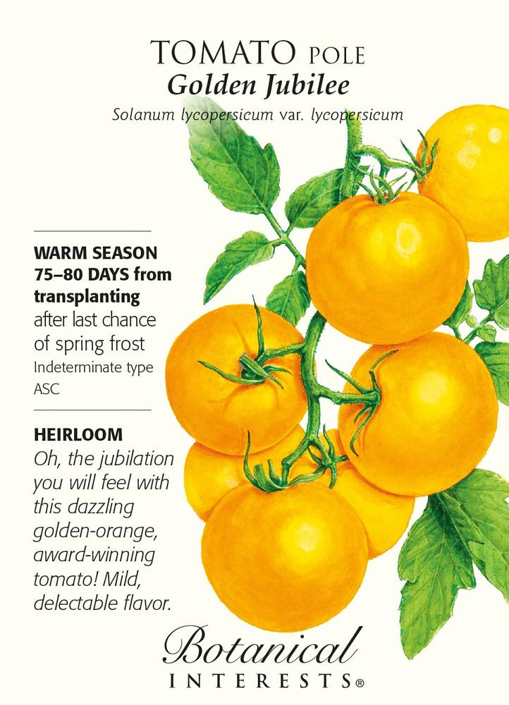 Golden Jubilee Pole Tomato - 30 Seeds
