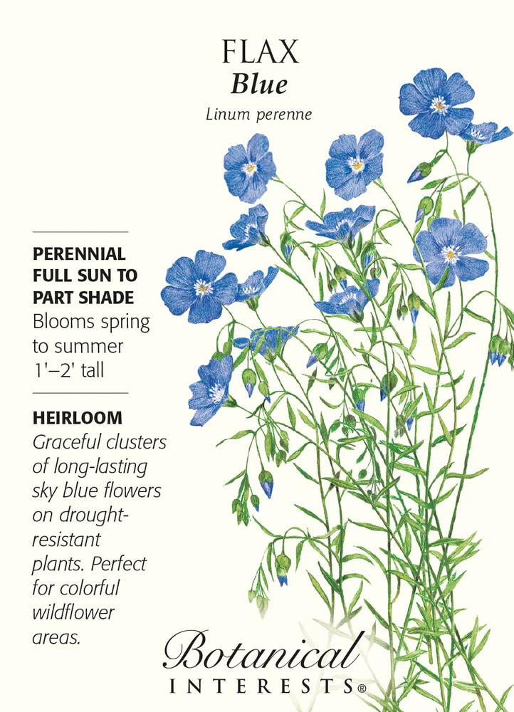 Blue Flax Heirloom Seeds - 1 Gram