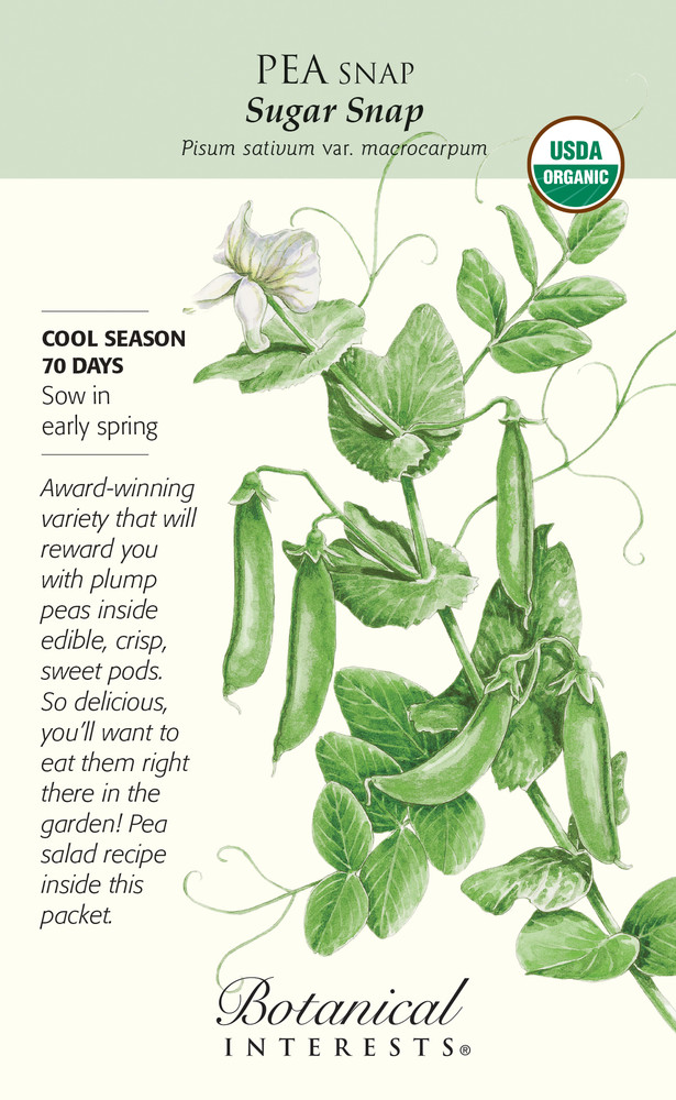 Organic Sugar Snap Peas - 50 Grams