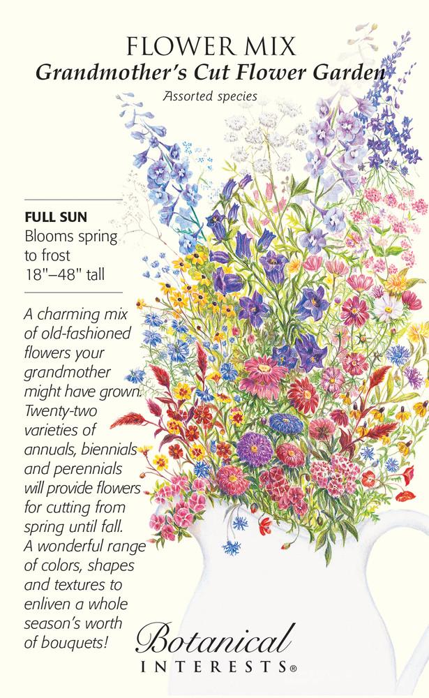 Grandmother's Cut Flower Garden Seeds - 10 grams