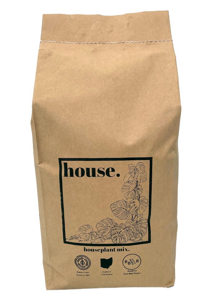 TilthSoil Indoor House Plant Potting Soil - 5lb Bag - Made from Compost