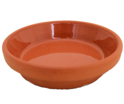 "5 -  3.5"" / 2.75"" Clay Saucers - Water Resistant-For Plants, Crafts, Fairy Gardens"