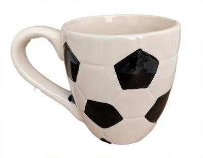 """Soccer Ceramic Sports Mug Planter - 13 Ounce - 4"""" x 3.5"""""""