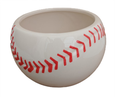 "Baseball Ceramic Sports Planter  - 4.25"" x 4"""