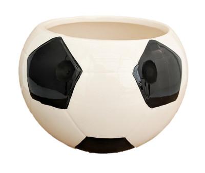 """Soccer Ceramic Sports Planter  - 4"""" x 3.75"""""""