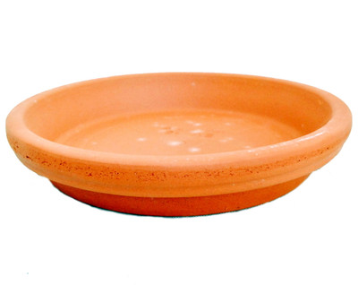 "5 - 4.25""/3.25"" Clay Saucers-Water Resistant-For Plants, Crafts, Fairy Gardens"