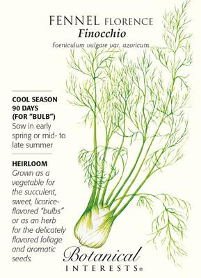 Finocchio Florence Fennel Seeds - 1 gram - Heirloom
