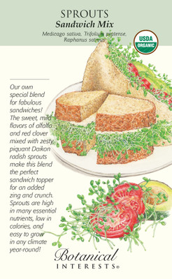 Organic Sprouts Sandwich Mix Seeds-50 grams