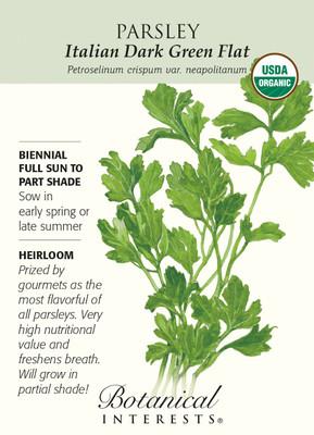 Italian Dark Green Flat Parsley Seeds - 1.5 g - Organic