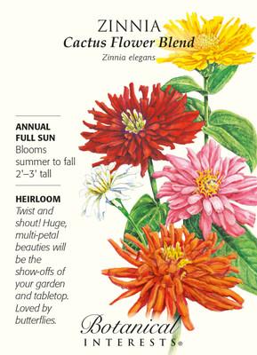 Cactus Flower Blend Zinnia Seeds - 750 mg
