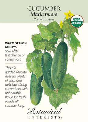 Marketmore Cucumber Seeds-1.5 grams-Certified Organic