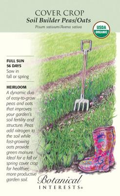 Organic Cover Crop Soil Builder Peas/Oats - 65 Grams