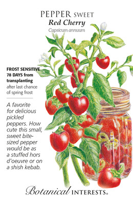 Red Cherry Sweet Pepper Seeds - 15 Seeds
