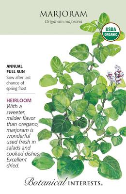 Organic Marjoram Seeds - 300 Milligrams - Botanical Interests