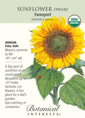 Sunspot Sunflower Seeds - 2 grams - Organic