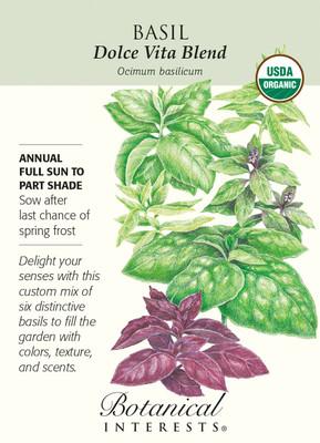 Dolce Vita Blend Basil Seeds - 1 gram - Organic Herb