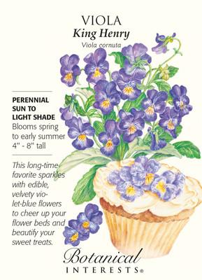 King Henry Viola Seeds - 200 mg - Perennial