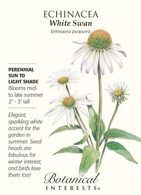 White Swan Echinacea Seeds - 300 mg
