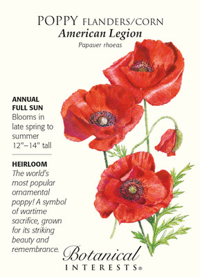 American Legion Poppy Seeds - 1 gram - Annual