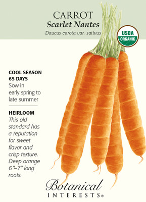 Scarlet Nantes Carrot Seeds - 800 mg - Organic