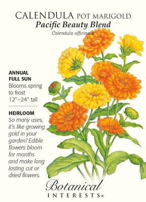 Pacific Beauty Pot Marigold Calendula Seeds - 1.5 grams