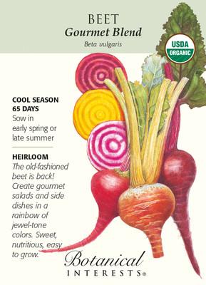 Gourmet Blend Beet Seeds - 2 grams - Organic