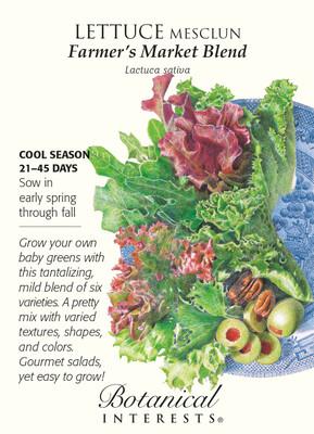 Farmer's Market Blend Mesclun Lettuce Seeds - 1.5 grams