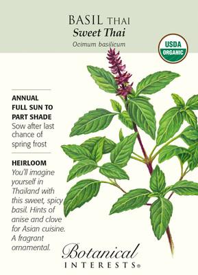 Organic Sweet Thai Basil Seeds - 300 mg