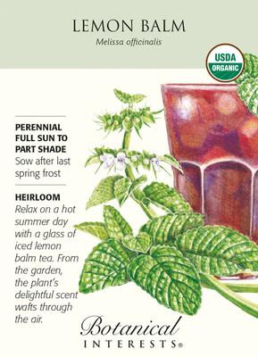Lemon Balm Seeds - 200 mg - Certified Organic