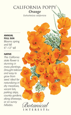 California Orange Poppy Seeds - 10 grams - Annual